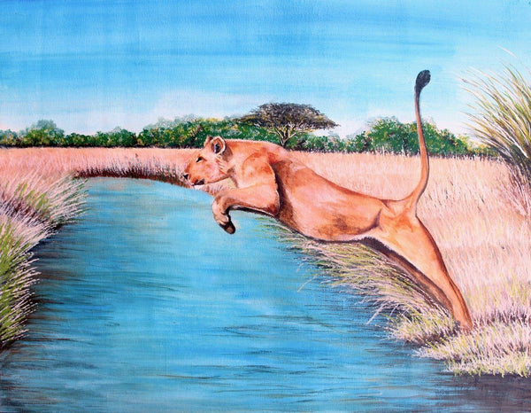 "Richard Kimemia  -  ""The Leap""  -  True African Art.com"