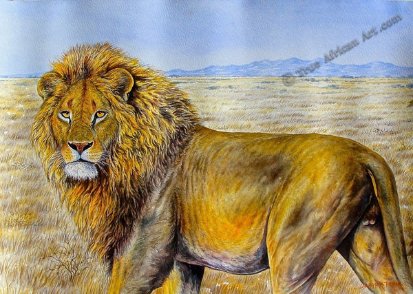 The Lion Rules by African Artist Joseph Thiongo