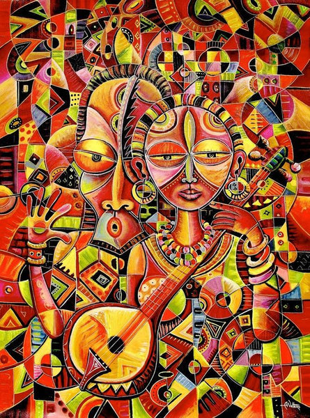 Angu Walters' paints much in a piece | True African Art .com