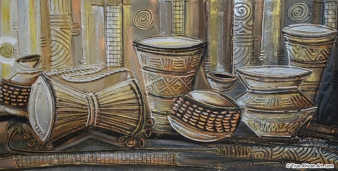 Tradtitional Musical Instruments by Paul Gbolade Omidiran  |  SOLD