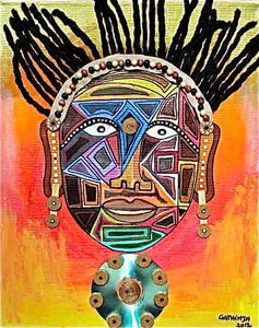 Gathinja  |  Kenya  |  Uso - 2  |  Print  |  True African Art .com