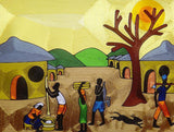 "Yeboah Family - Yeb  |  Ghana  |  Silk Thread  |  ""The Village""  