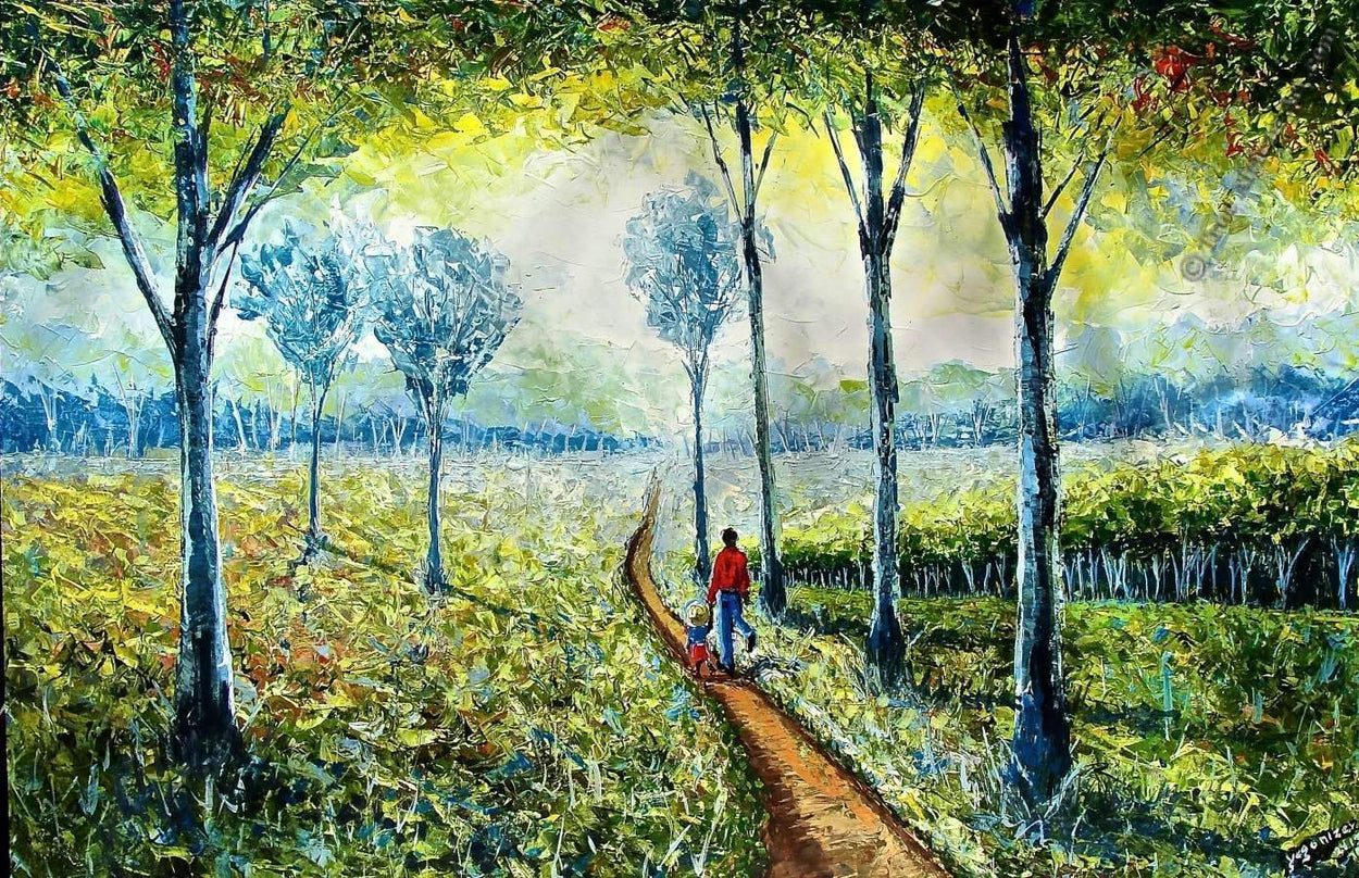 Walk into the World by Kenyan artist, Evans Yegonizer Yegon