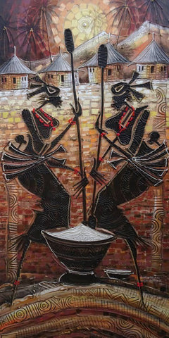 "Paul Gbolade Omidiran | Nigeria | ""Yam Pounders"" 