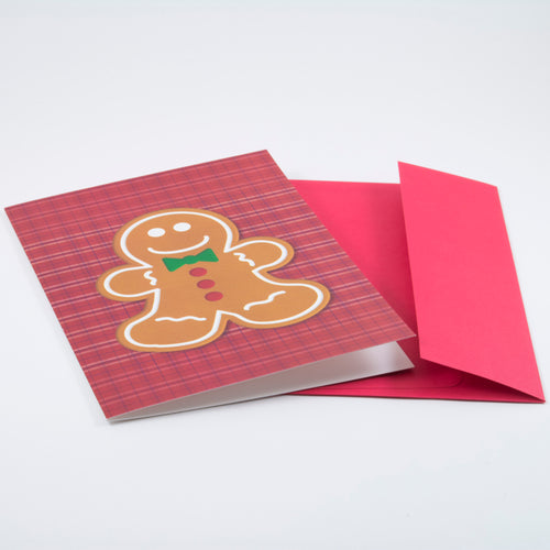 Gingerbread Cookie (Plaid) - Holiday Card