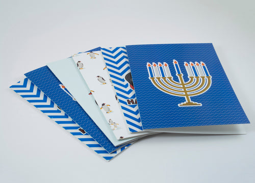 Hanukkah Card 6 Pack - Holiday Cards