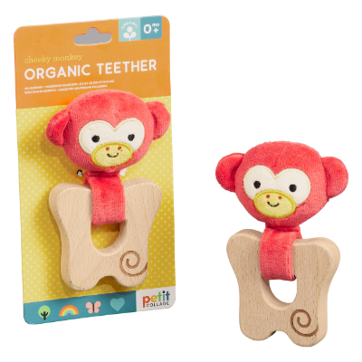 Organic Teether Monkey