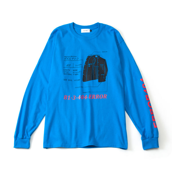 RHYTHM MACHINE L/S TEE (BLUE)