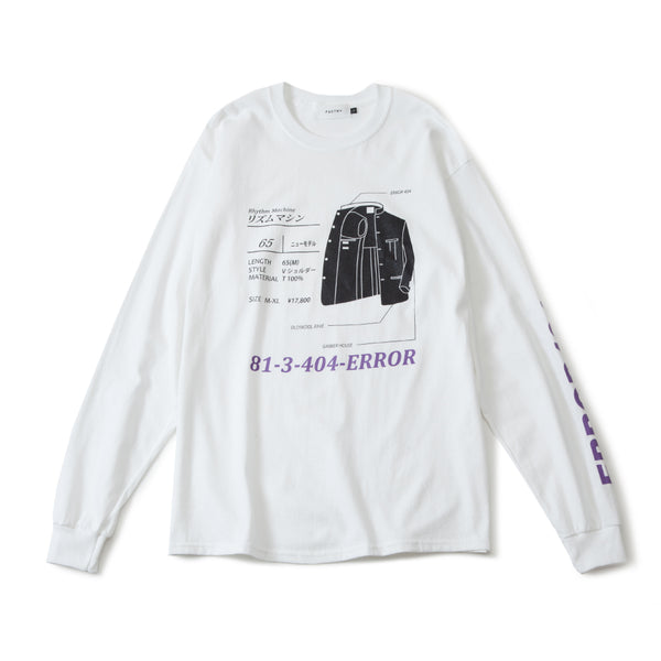 RHYTHM MACHINE L/S TEE (WHITE)