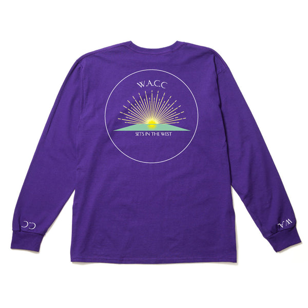 Sets in the West L/S Tee (Purple)