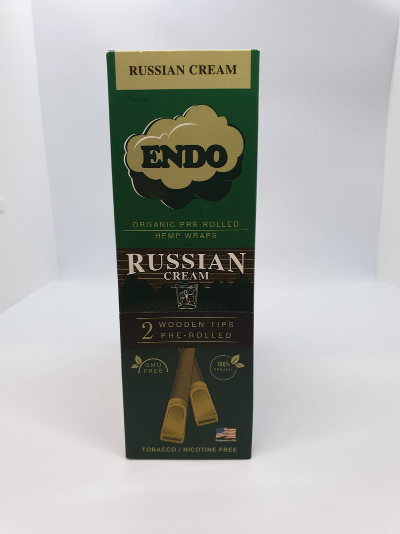 Endo Pre-Rolled Hemp Wraps - Russian Cream