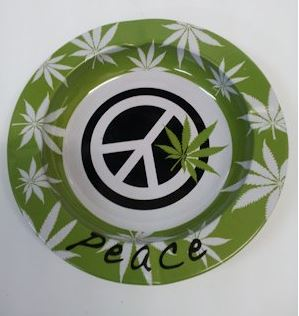 Metal Tin Tray - Peace and Leaf