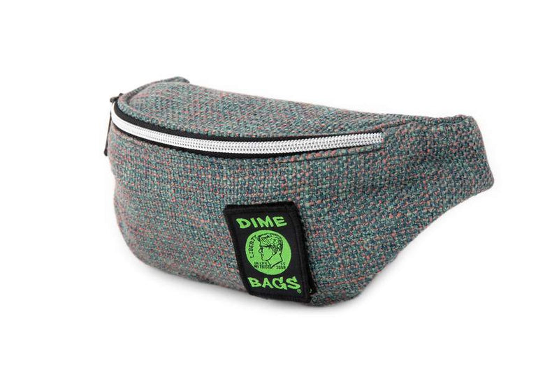 Dime Bags Organic Hemp Stash Pack Smell Proof Waist Pack (Aqua)