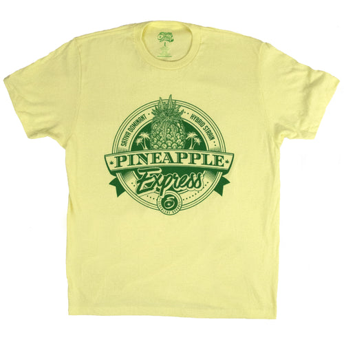 SEVEN LEAF PINEAPPLE EXPRESS STRAIN YELLOW T-SHIRT