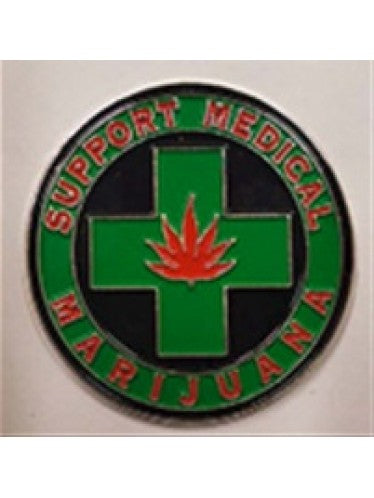 Medical Marijuana Hat Pin