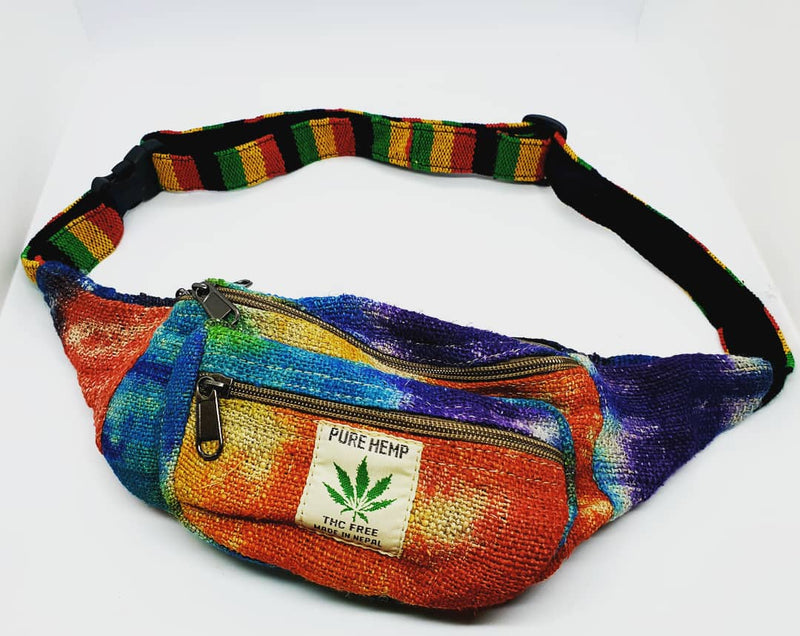 Dyed Hemp Moon Bag
