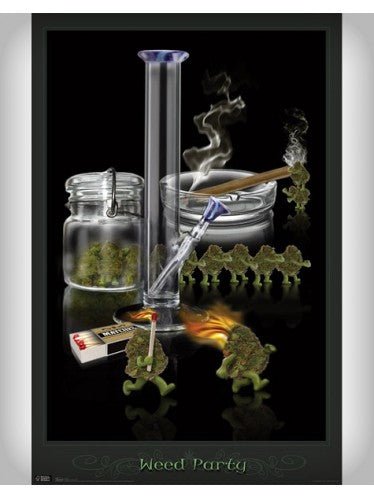Weed Party Blockmount Poster
