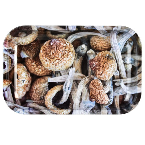 Pulsar Shroom Collage Metal Rolling Tray