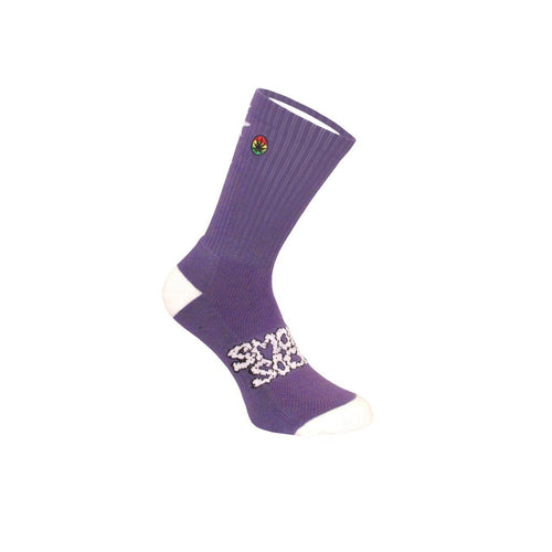 SMOKEY SOCKS HEMP LEAF LADDER - PURPLE AND WHITE