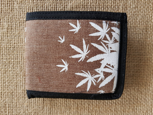 Satori Hemp Leaves Bi-Fold Wallet