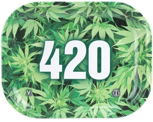 V SYNDICATE 420 LEAFY METAL ROLLING TRAY Small