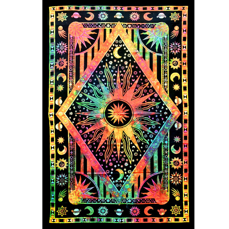 ThreadHeads Tie-Dye Center of the Universe Tapestry
