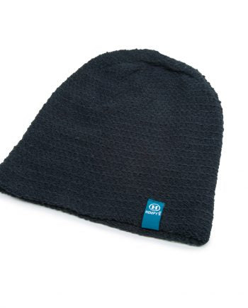 Hemp Flatline Beanie - Black