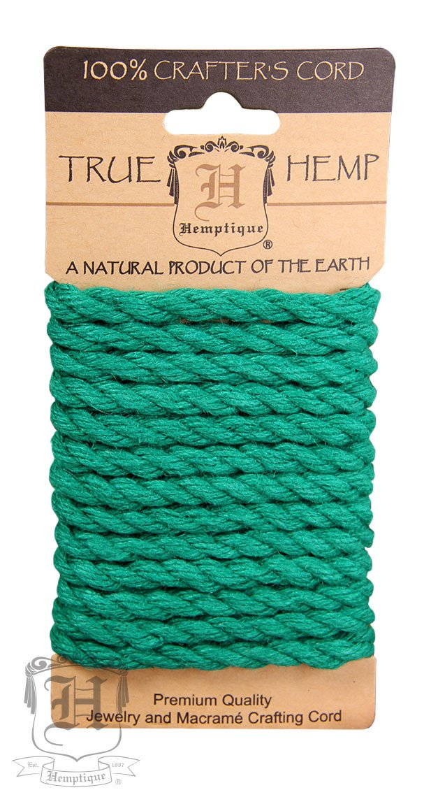 Dyed Hemp Rope  6mm Green