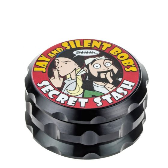Jay and Silent Bob Aluminum Grinder | Secret Stash | Black
