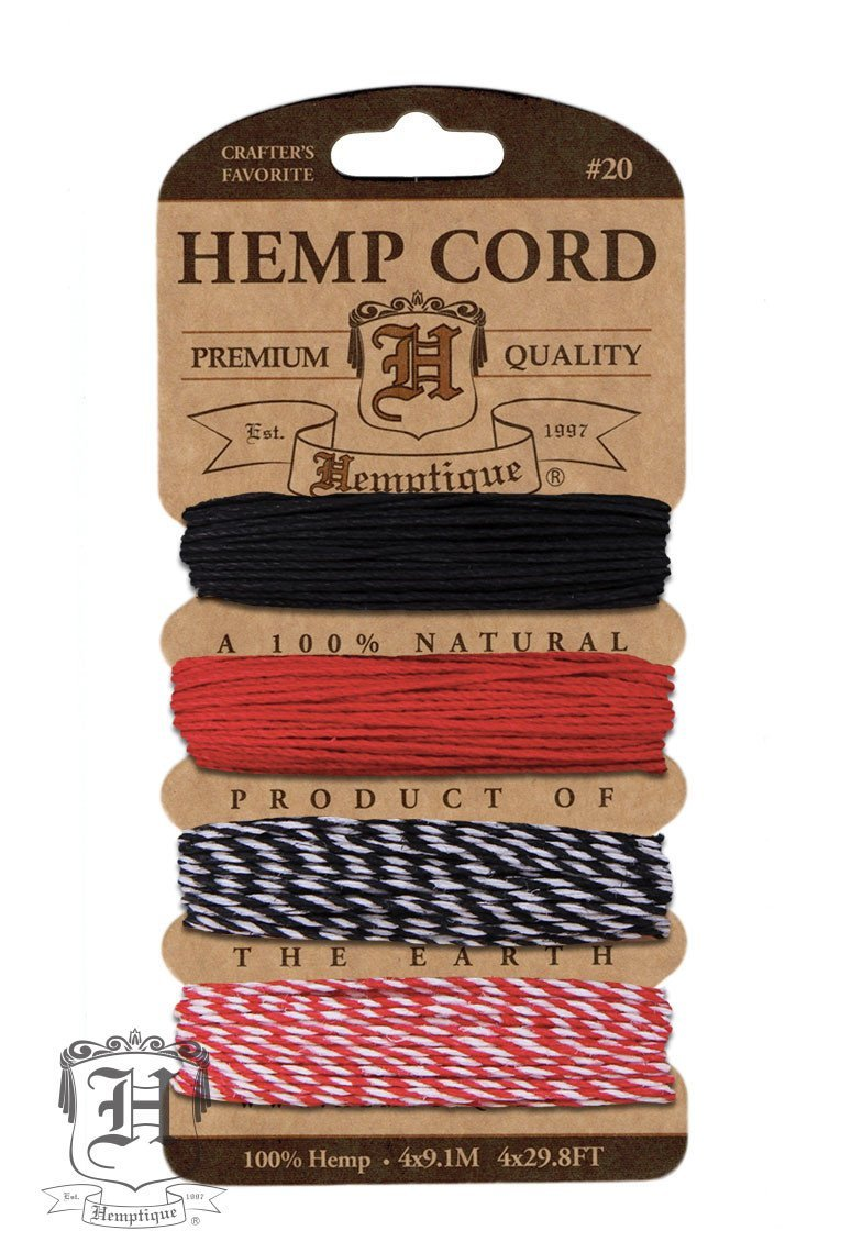 Hemp Cord Card Variegated #10/#20 ⌀ .5mm/1mm  - Poker Face