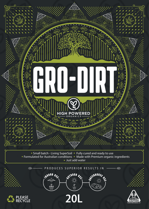 GRO-DIRT LIVING ORGANIC SOIL 20L