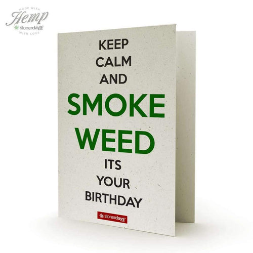 KEEP CALM SMOKE WEED HEMP BIRTHDAY CARD