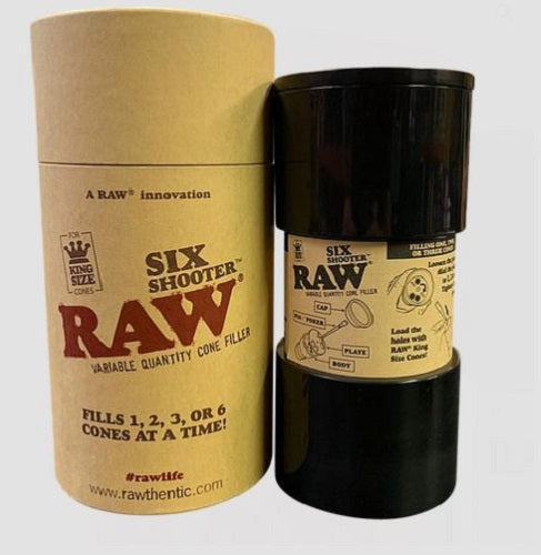 RAW Six Shooter Cone Filler Smoking Tube Filling