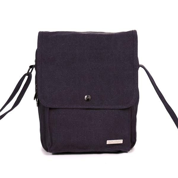 "COMMUTER"" HEMP & ORGANIC COTTON SHOULDER BAG - BY SATIVA"