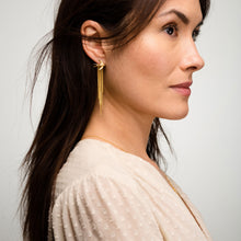 Load image into Gallery viewer, Louise wade chain back earring long model