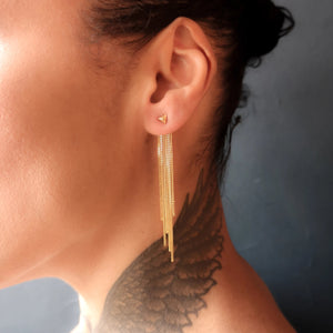 Detachable Chain Back Earring Long