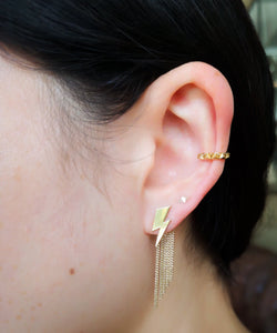 Detachable Chain Back Earring Short