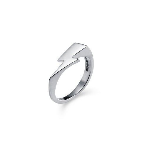 Bowie Flash Signet Ring