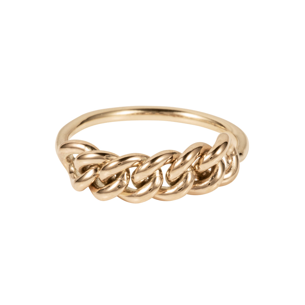Paris Chain Ring 9ct Gold