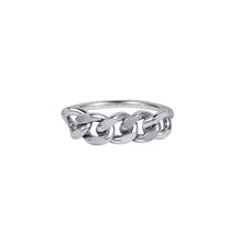 Load image into Gallery viewer, London Chain Ring Silver