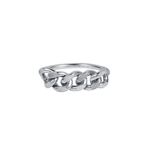 London Chain Ring Silver