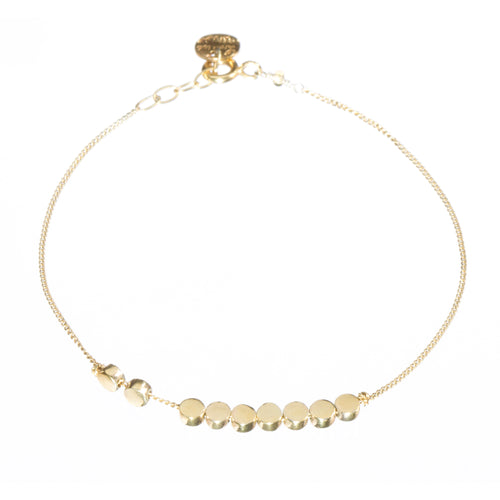 Louise Wade Colbert solid gold bead bracelet