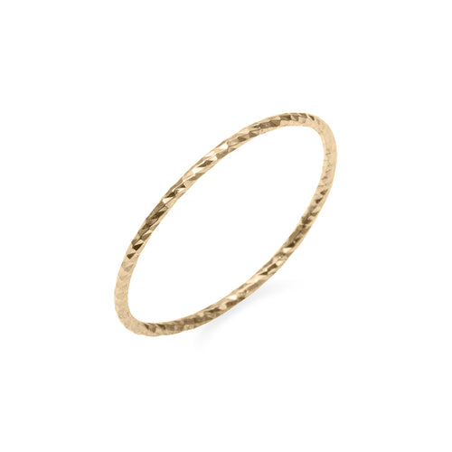 Extra Fine Diamond Cut Stacking Ring