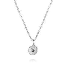 Load image into Gallery viewer, Diamond Star necklace in Sterling Silver by Louise Wade London