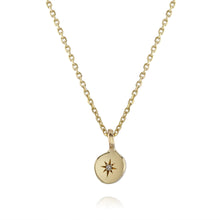 Diamond Star necklace in 9ct solid gold by Louise Wade London