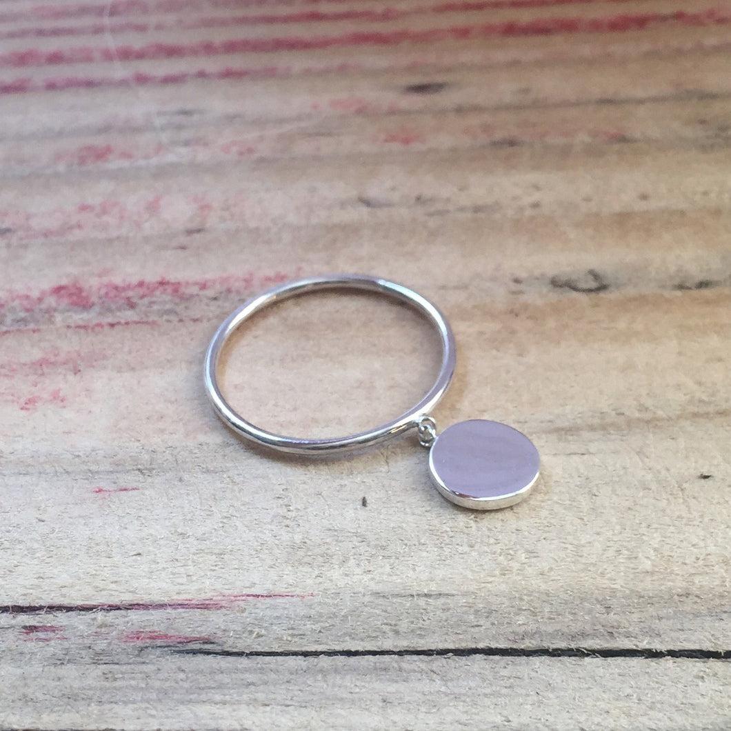 Luna moon ring by Louise Wade London in sterling silver or 9ct solid gold