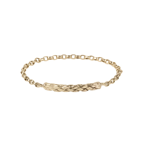 Extra Fine Rope Chain Ring 9ct solid gold