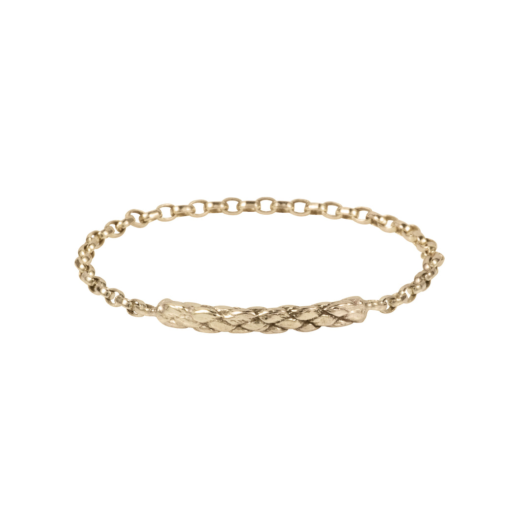 Extra Fine Rope Chain Ring