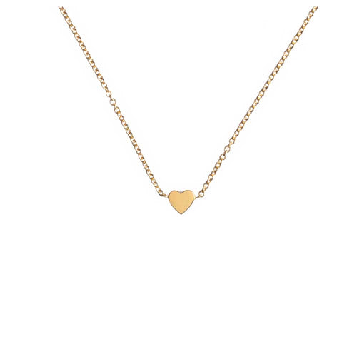 Louise wade heart necklace gold vermeil detail