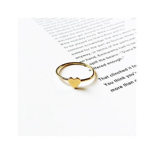 heart ring by Louise wade  gold vermeil